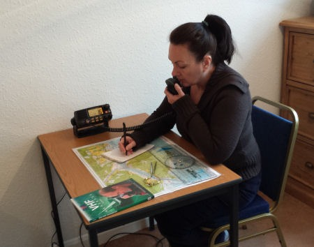 Chart work and VHF practice