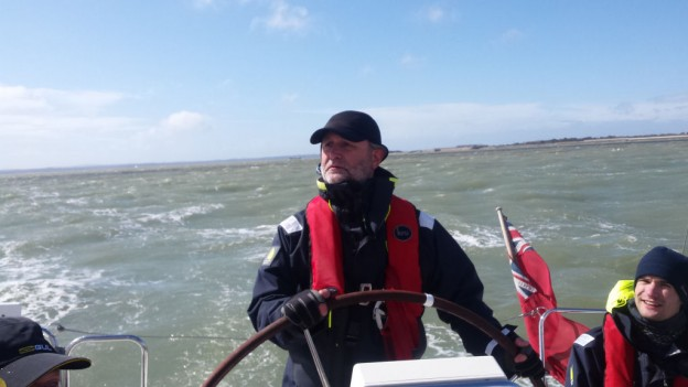 Day Skipper at the helm