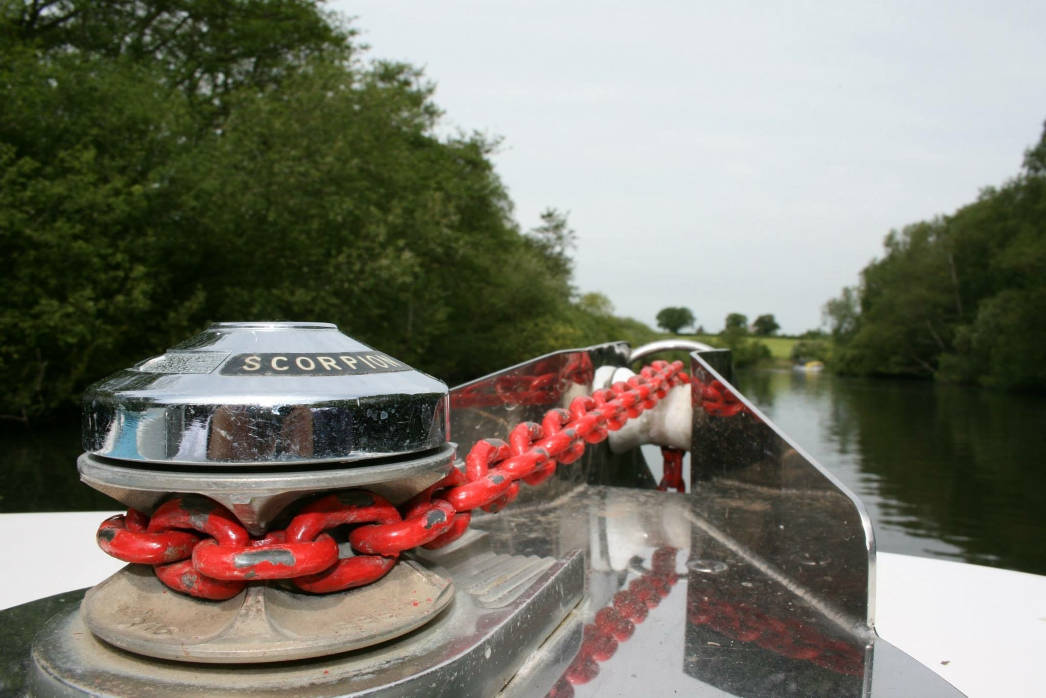 At anchor on the Broads