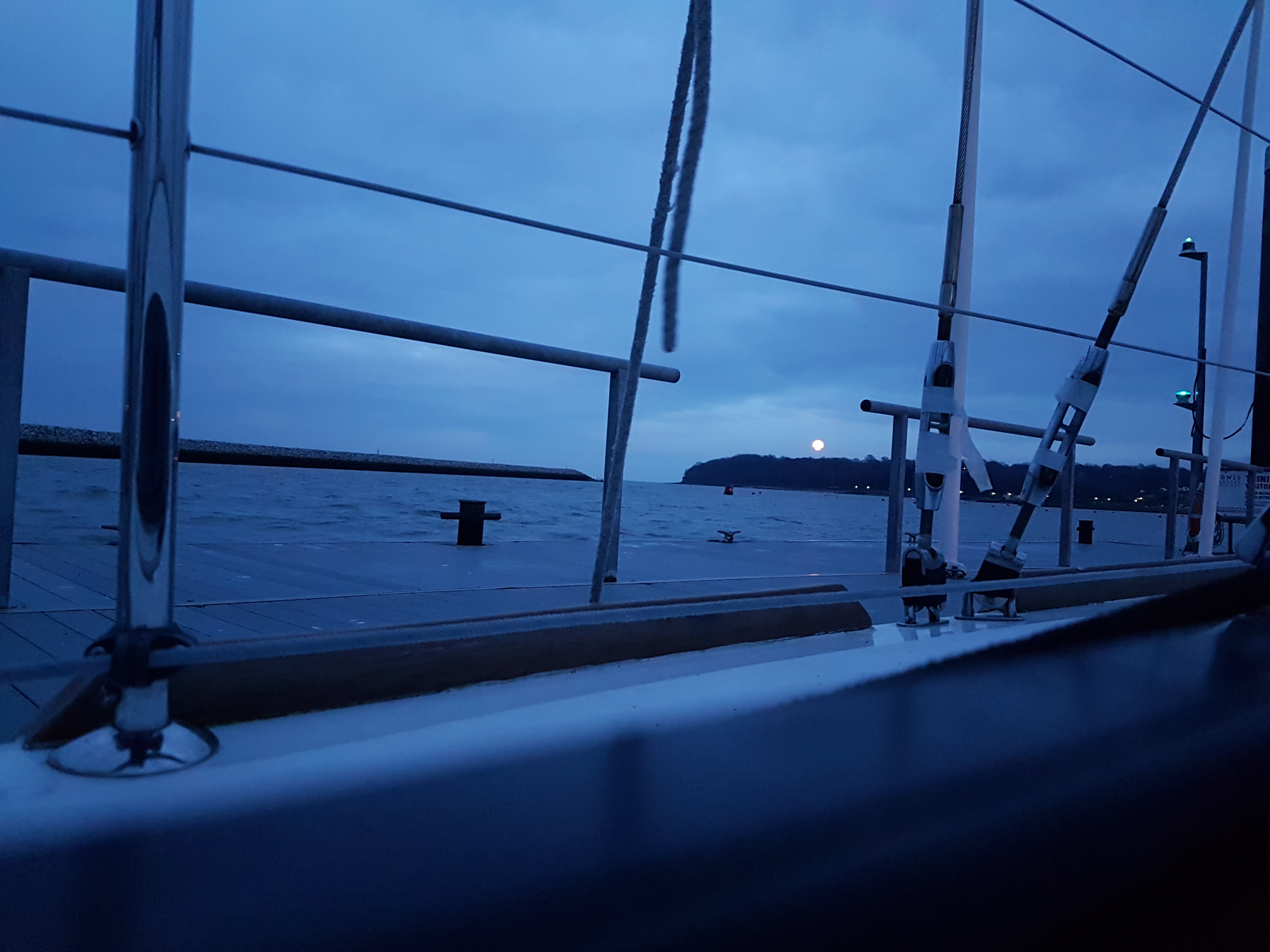 Preparing for a night sail to Hamble