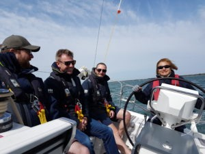RYA Day Skipper at the helm