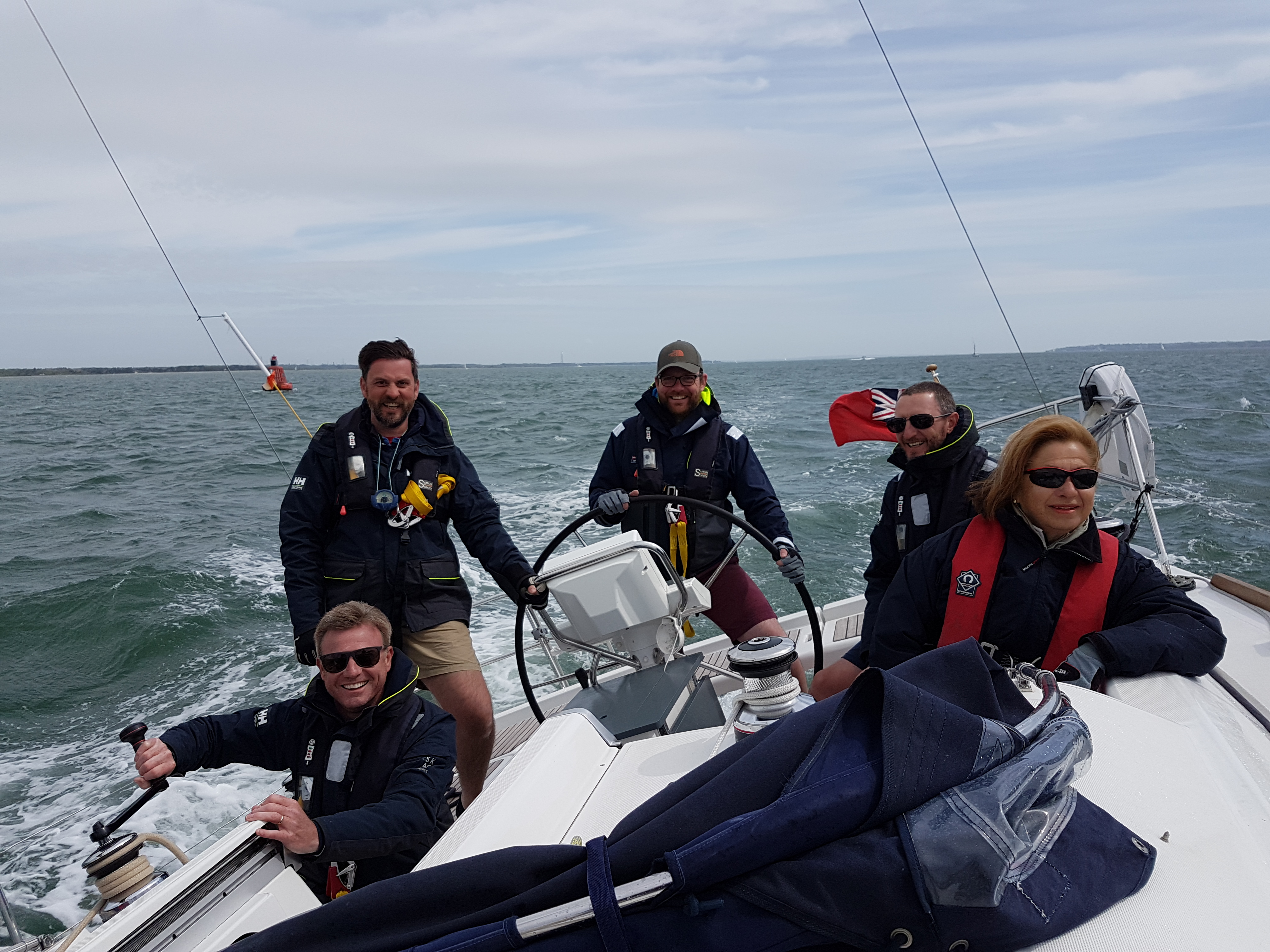 Wind picks up for Day Skipper students